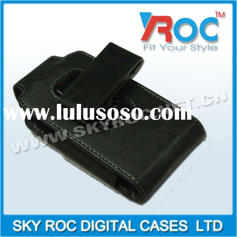 2011 mobile phone leather case with back clip for cell phone 9800 cover
