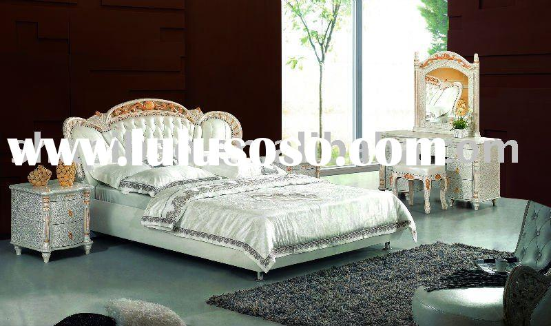 2011 modern furniture leather queen full size single double soft bed sets VT9058