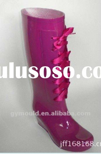 2012New style Jelly boots,High heel Fashion Rain Boots ,Wellington Boots,Wellies