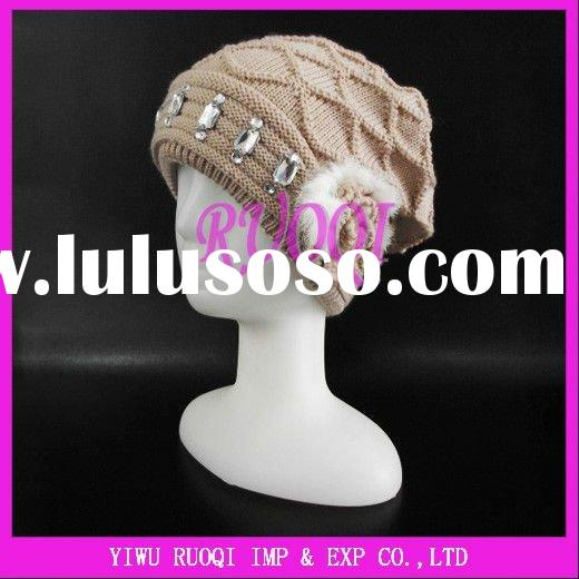 2012 Fashion winter warm with ball knitted hat RQ-151
