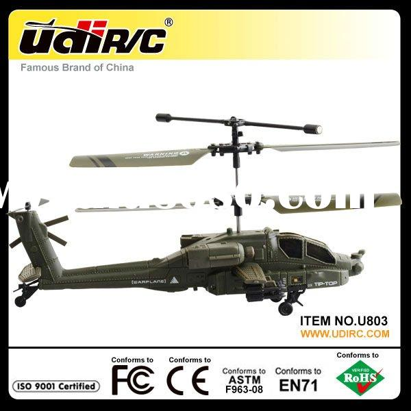 2012 Hottest Udirc U803 Apache Mini RC Helicopter Toy