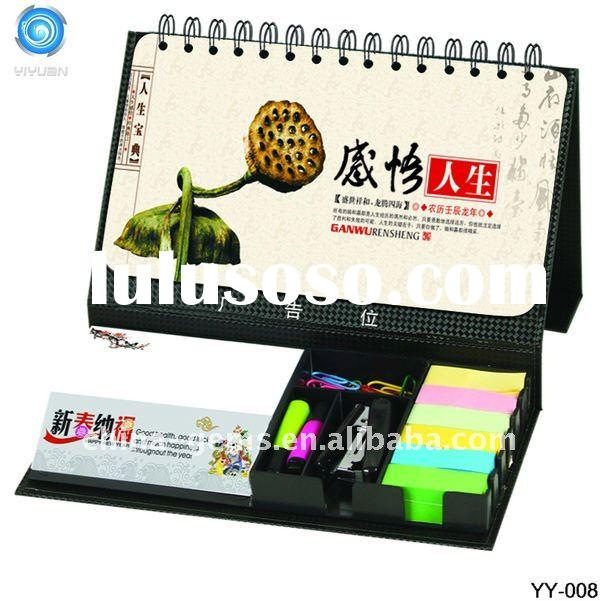 2012 NEW DESIGN TABLE CALENDAR WITH NOTEPAD