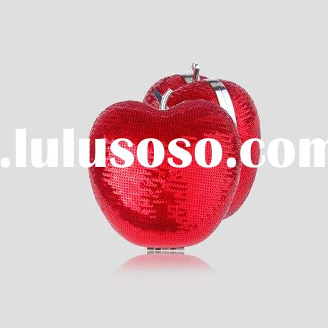 2012 fashion apple shape hard case clutch evening bag G20063