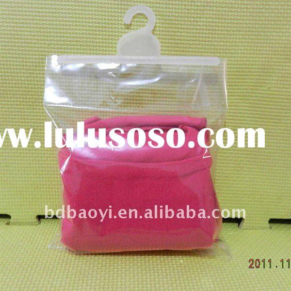 2012 hot sell PVC plastic packaging bag with hook alibaba China