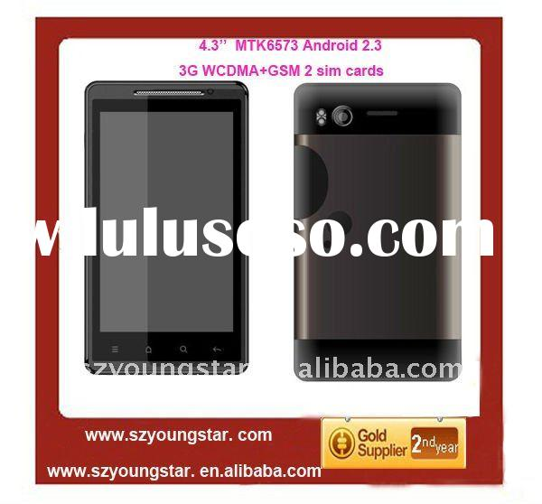 2012 new MTK6573 Android 2.3 WCDMA+GSM GPS WIFI 4.3'' capacitive screen mobile phone