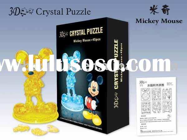 3D Crystal Puzzle.Mickey Mouse 3D Crystal Puzzle. Cartoon Puzzle