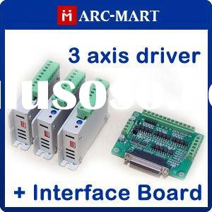 3 axis CNC Router/Mill kit Two-Phase Stepper Motor Driver + CNC interface board #UCUC118