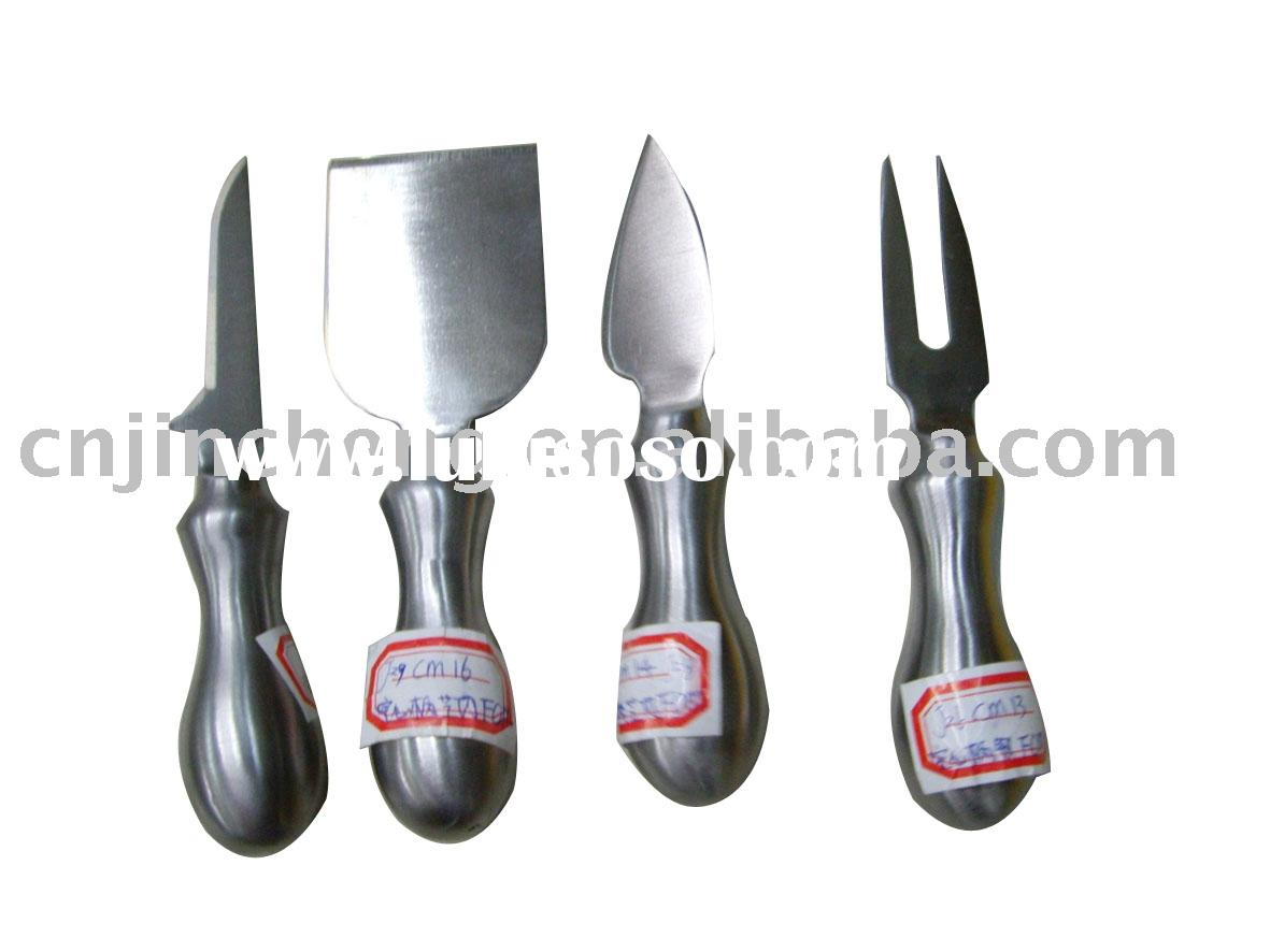 4 pcs stainless steel cheese knife set