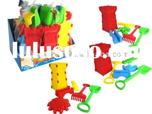 6 Piece Hot Summer Plastic Mini Sand Beach Toy Set