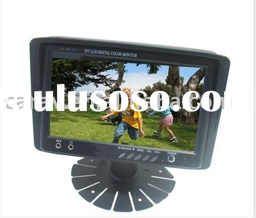 7 inch Stand-alone TFT in car Monitor with 3 AV input/remote control