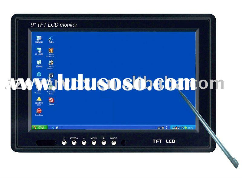 9 inch car tft pc monitor with touch computer
