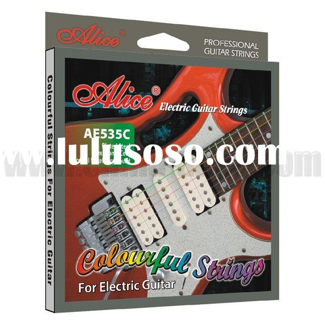 AE535C Colourful Electric Guitar Strings Made by Automatic Winding Machine