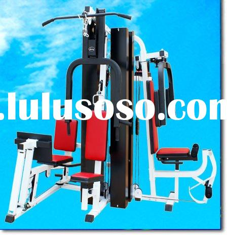 AMA-9600H deluxe multi station home gym equipment ( for five persons use, main frame:80*40*2.0 and 6