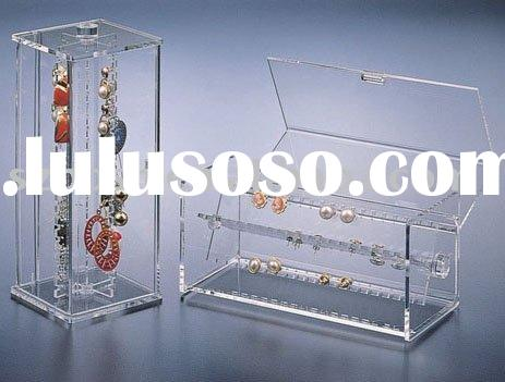 Acrylic Jewelry Display,Lucite Earring Box,Plexiglass Necklace Display Rack