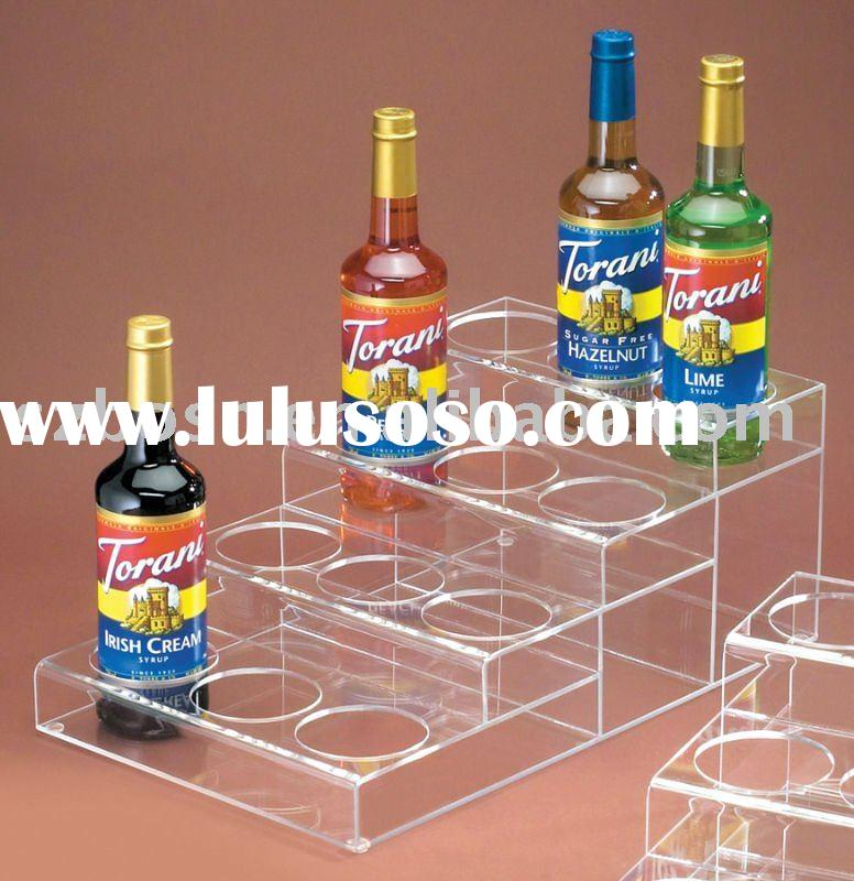 Acrylic Wine Display,Plexiglass Wine Holder,Perspex Drink Dispenser