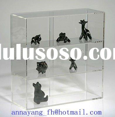 Acrylic jewellery display case with sliding doors