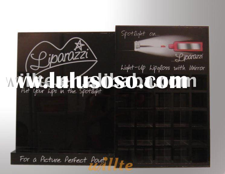 Acrylic makeup display, counter display stand
