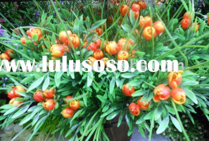 Artificial flower/artificial plant--Plastic artificial flower- tulip buds