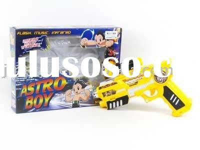 B/O Turn Gun with sound and Infrared,electric sound gun,plastic gun toys,laser sound gun