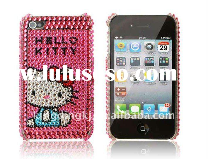 Bling Bling Crystal Back Cover for Apple iPhone 4(hello kitty)