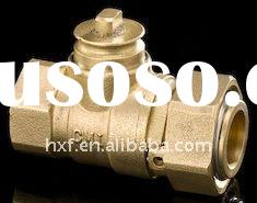 Brass Ball Valve Handwheel Lock for Water Meter Female