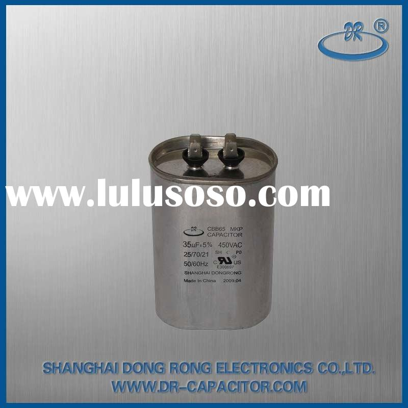 CBB65 air conditioner Oval capacitor(explosion-proof 10000AFC SH P1 P2 50/60Hz 5% 30000H CE ROHS SGS