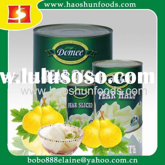 Canned pear dice,pear,canned fruit, canned food