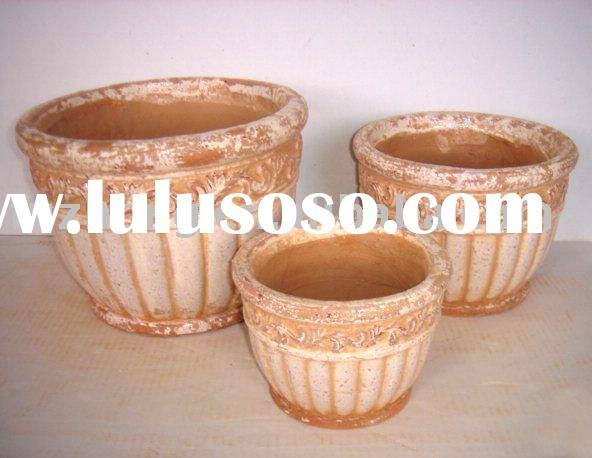 Ceramic round flower pot