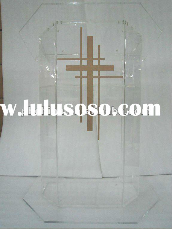 Clear Acrylic Church Pulpit; Plexiglass Podiums; Pmma Lectern/Speaker Stand; Acrylic Lectern/Podium/