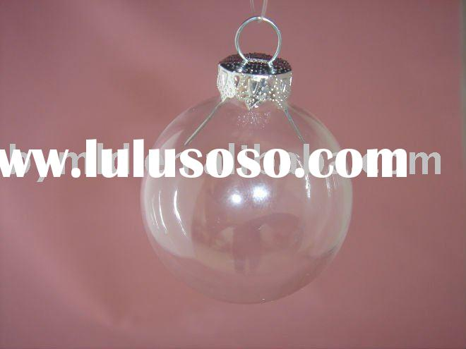 Clear Glass Christmas Balls