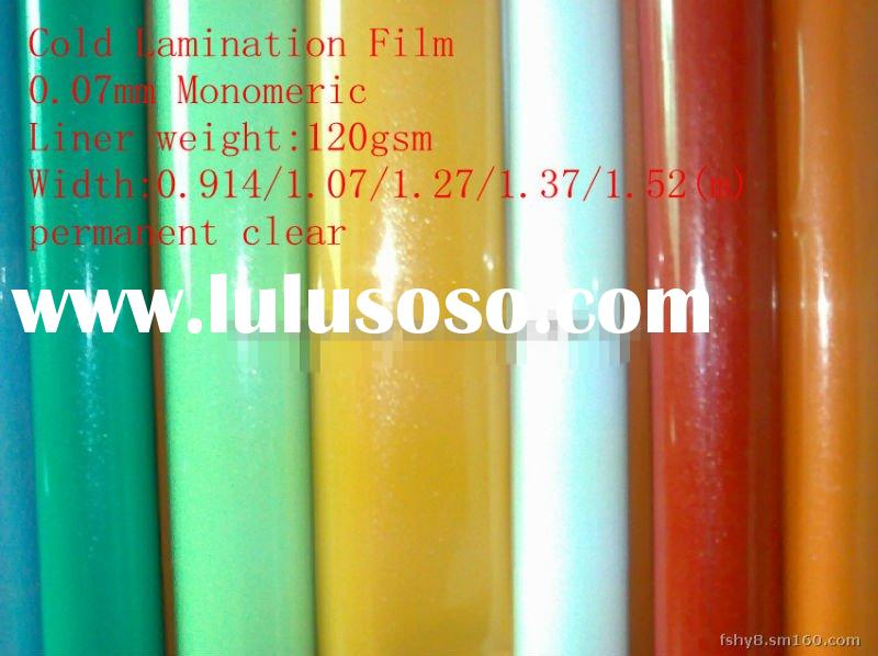 Cold lamination film,use for protect other advertising materials