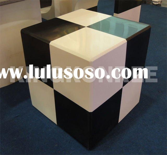 Corian solid surface rubik's cube stool