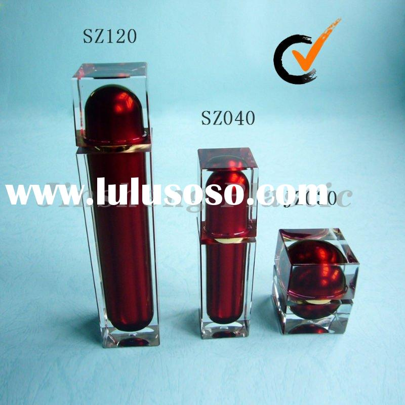 Crystal Acrylic Glass-like Transparent Square Lotion Bottles and Jars