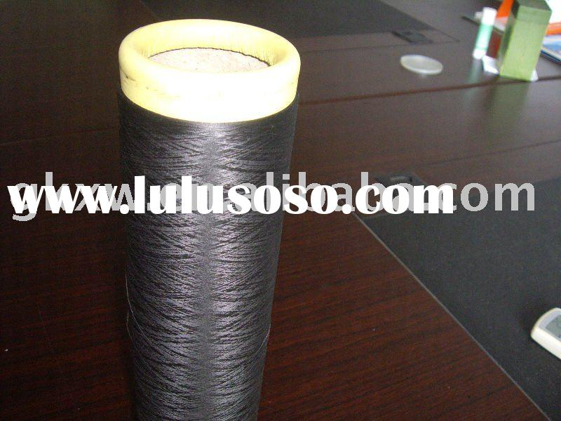 DTY Nylon 6 yarn 70D/24F/2, Dope dyed black colors yarn