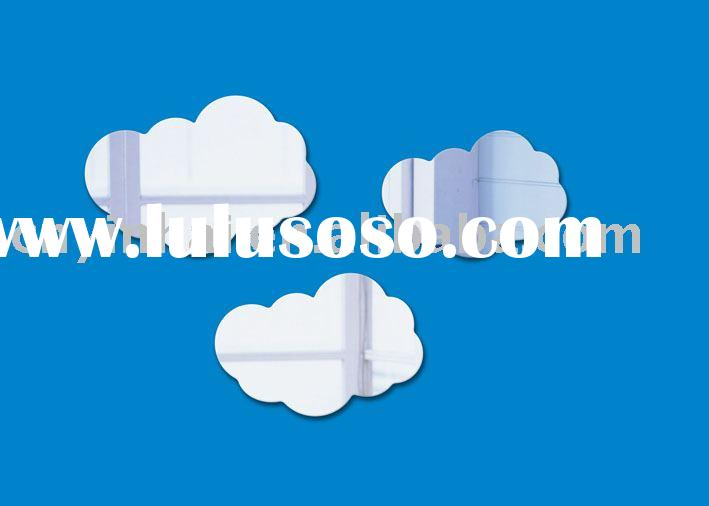 Decorative cloud shape wall mirror sticker