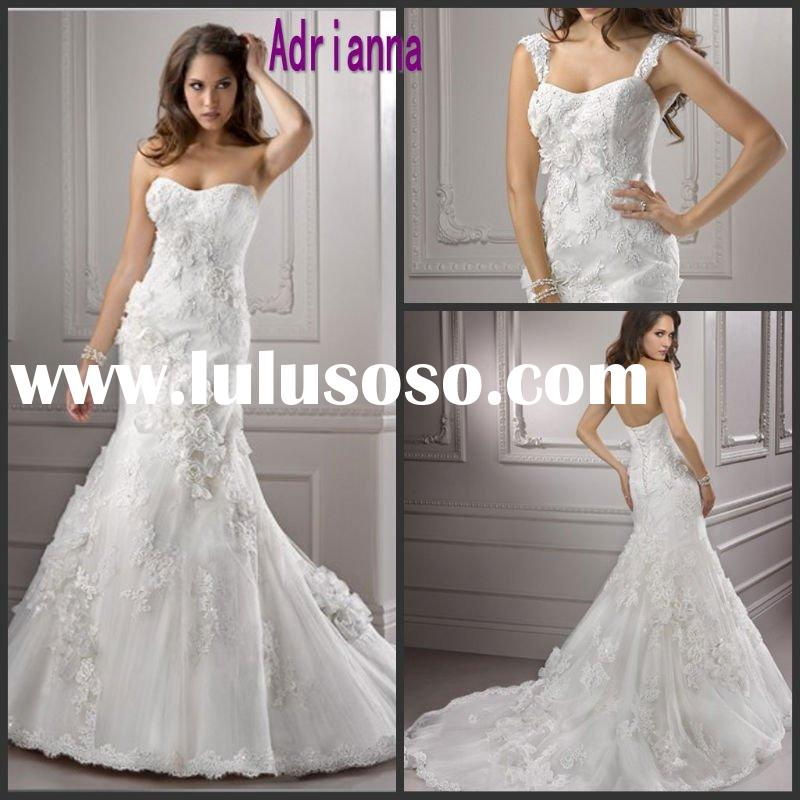 Detachable Cap Sleeve Open Back Wedding Dress