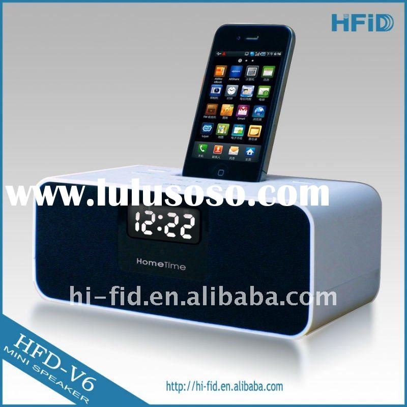 Docking station speaker for IPhone & IPod with Alarm Clock & FM Radio + good sound system +