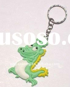 Fashion dragon keychain plastic key ring soft pvc key chain
