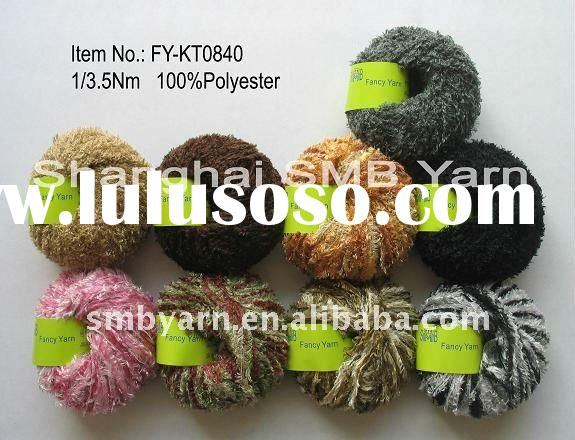 Feather Yarn for machine and blanket knitting FY-KT0840