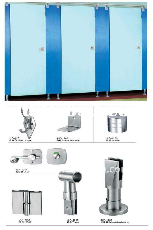 Fireproof hpl compact toilet cubicle partition 126