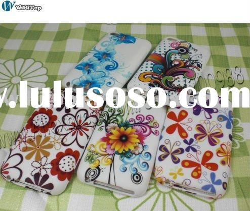 Flower Case for iPod touch 4. For iTouch 4 TPU case