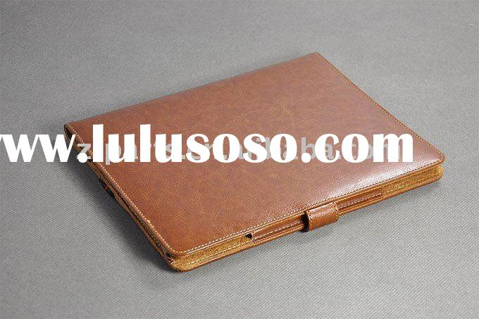 For iPad 2 accessories/Genuine Leather Case for iPad 2