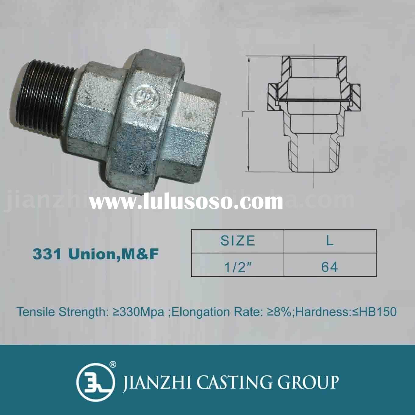 G.I. Pipe Fitting-331 M&F Union Flat Seat/DIN Standard