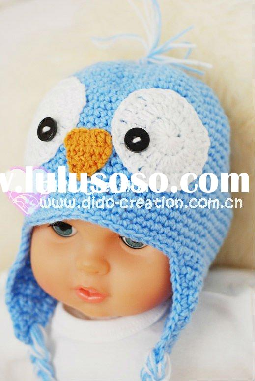H05C064A Handmade fashion Crochet Baby Animal Hats cap Beanie flower animal new born baby gifts earf