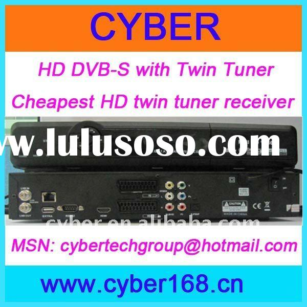 HD DVB-S with Twin Tuner; Automatic PAL/NTSC conversion;SCPC and MCPC receivable from C/Ku band sate