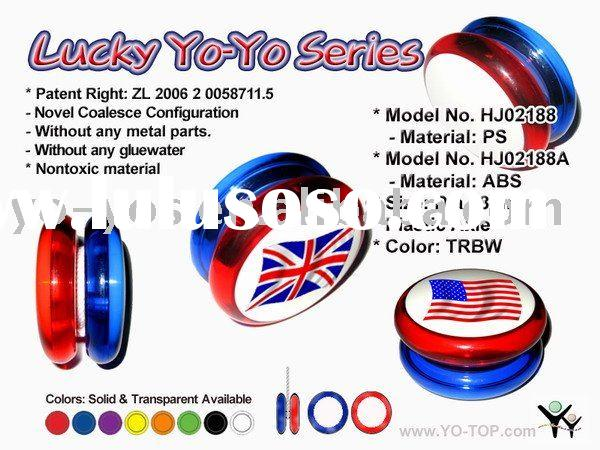 HJ's yoyo toy without any metal parts & glue(OEM LOGO)
