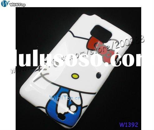Hello Kitty Case for Samsung Galaxy S2 I9100. Cartoon Hard Case for Galaxy S2