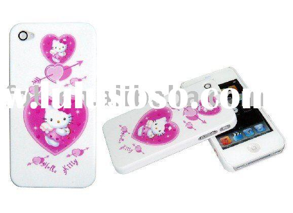 Hello kitty and love plastic mobile phonem pouch/mobile phone case/cell phone pouch for Iphone 4G
