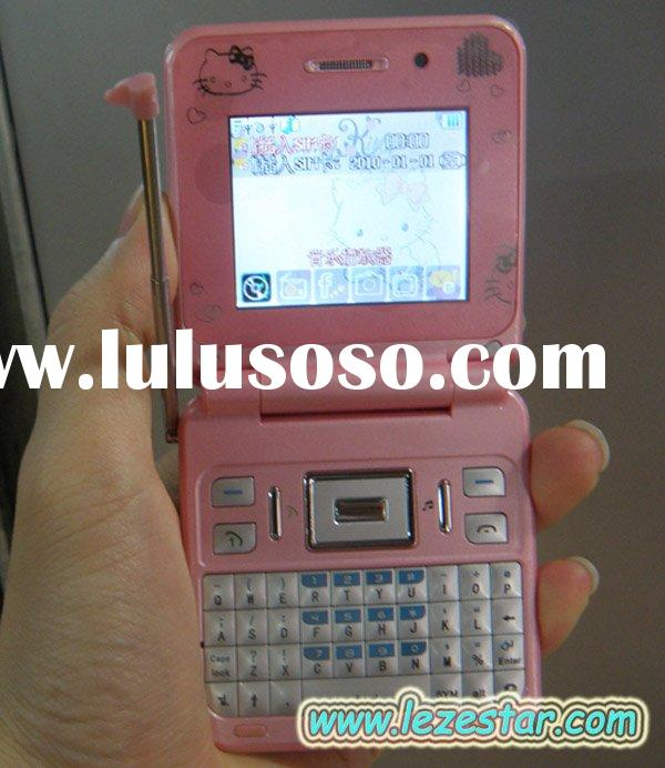 Hello kitty n10 TV mobile phone with qwerty keyboard