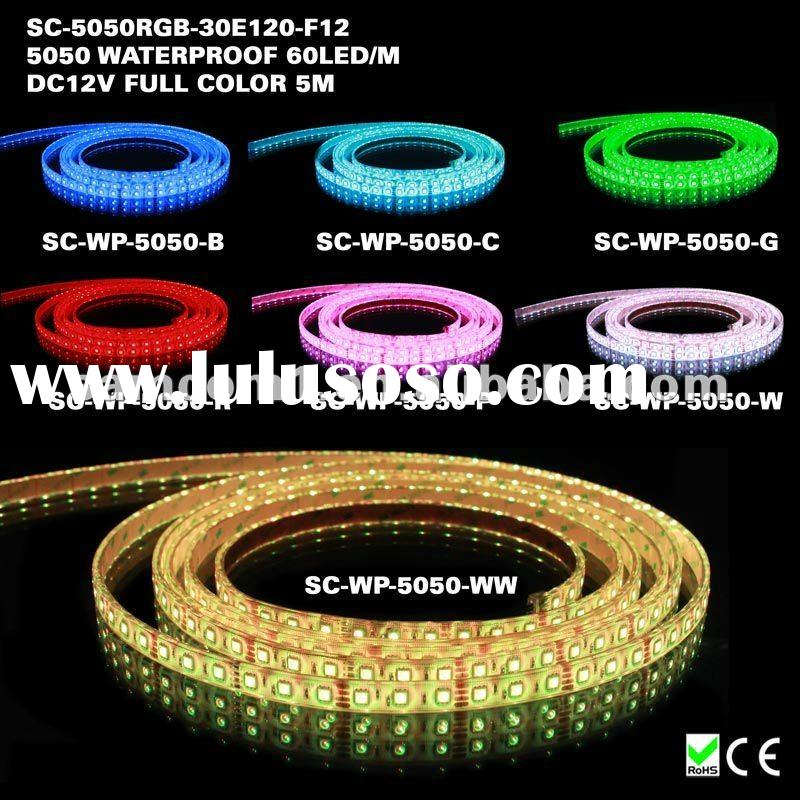 High output dmx waterproof rgb led rope tape light